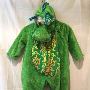 CELEBRATION INC Green DRAGON Furry PLUSH COSTUME M